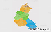 Political 3D Map of Champagne-Ardenne, cropped outside