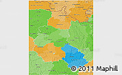 Political 3D Map of Champagne-Ardenne, political shades outside