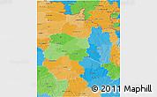 Political 3D Map of Champagne-Ardenne