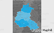 Political Shades 3D Map of Champagne-Ardenne, darken, desaturated