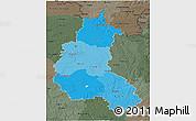 Political Shades 3D Map of Champagne-Ardenne, darken, semi-desaturated