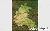 Satellite 3D Map of Champagne-Ardenne, darken