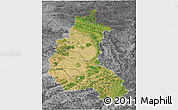 Satellite 3D Map of Champagne-Ardenne, desaturated