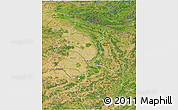 Satellite 3D Map of Champagne-Ardenne