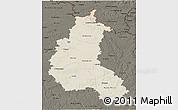 Shaded Relief 3D Map of Champagne-Ardenne, darken