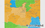 Political Shades 3D Map of Ardennes