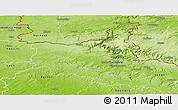 Physical Panoramic Map of Charleville-Mézieres