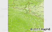 Physical Map of Ardennes