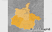 Political Shades Map of Ardennes, desaturated
