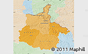 Political Shades Map of Ardennes, lighten