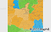 Political Shades Map of Ardennes
