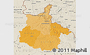 Political Shades Map of Ardennes, shaded relief outside