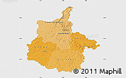 Political Shades Map of Ardennes, single color outside