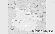 Silver Style Map of Ardennes