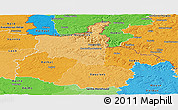 Political Shades Panoramic Map of Ardennes