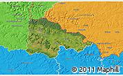 Satellite 3D Map of Sedan, political outside