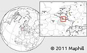 Blank Location Map of Sedan, highlighted grandparent region