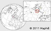 Blank Location Map of Sedan, highlighted parent region