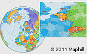 Political Location Map of Sedan, highlighted parent region