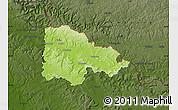 Physical Map of Sedan, darken