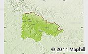 Physical Map of Sedan, lighten