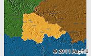 Political Map of Sedan, darken