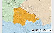 Political Map of Sedan, lighten