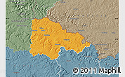 Political Map of Sedan, semi-desaturated