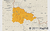 Political Map of Sedan, shaded relief outside