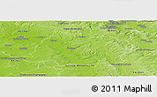 Physical Panoramic Map of Vouziers