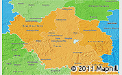 Political Shades 3D Map of Aube
