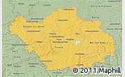 Savanna Style 3D Map of Aube