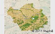 Satellite Map of Aube, lighten