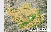 Satellite Map of Aube, semi-desaturated