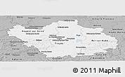 Gray Panoramic Map of Aube
