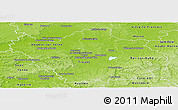 Physical Panoramic Map of Aube