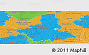Political Panoramic Map of Aube