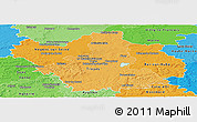 Political Shades Panoramic Map of Aube