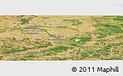 Satellite Panoramic Map of Aube