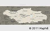 Shaded Relief Panoramic Map of Aube, darken