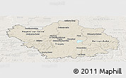 Shaded Relief Panoramic Map of Aube, lighten