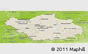 Shaded Relief Panoramic Map of Aube, physical outside