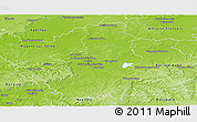 Physical Panoramic Map of Troyes