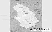 Gray 3D Map of Haute-Marne