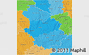 Political Shades 3D Map of Haute-Marne
