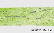 Physical Panoramic Map of Chaumont