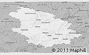 Gray Panoramic Map of Haute-Marne