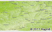 Physical Panoramic Map of Haute-Marne