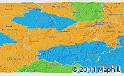 Political Panoramic Map of Haute-Marne