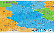 Political Shades Panoramic Map of Haute-Marne